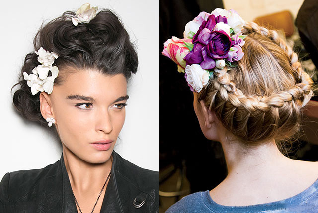 The 3 Prettiest Ways to Wear Floral Hair Accessories